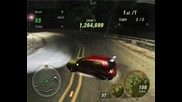 Nfs Underground 2 - Observatory circuit drifting a Single drift with the Flamed Scorpion Golf