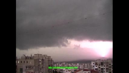 Варна - връхлитането на бурята - timelapse