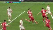 Дания вкара и четвърти гол на безпомощния тим на Русия