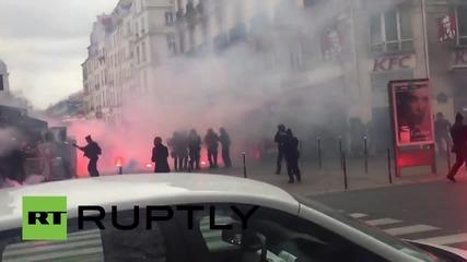 Сблъсъци в Париж между феновете на футболния клуб Бастия и полицията