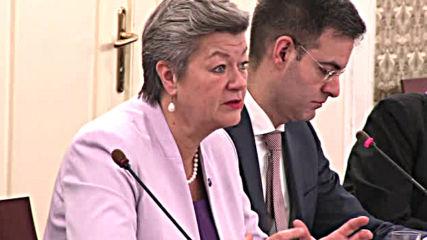 Депутати обсъдиха с еврокомисаря Илва Йохансон проблема с коронавируса