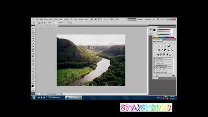 Премахване на обект от снимка с Photoshop Cs5