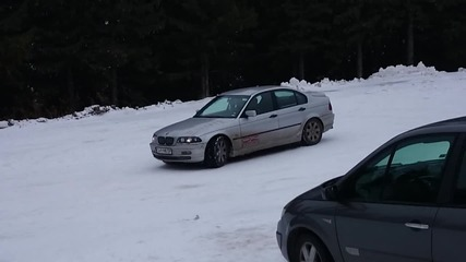 Бмв е46 на сняг