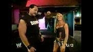 Ashley And Ron Simmons Backstage