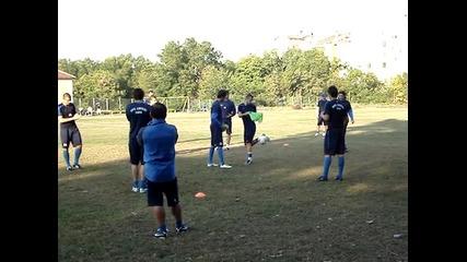 Левски тренира в шумен 3час. 24.09.2011