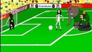 Анимации за световното: Гърция 2 - 1 Кот Д`ивоар