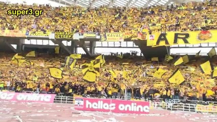 Greek Cup Final 2010... 25.000 Aris Fans in Athens