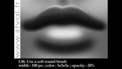 Как да нарисуваме реалистична уста с Adobe Photoshop