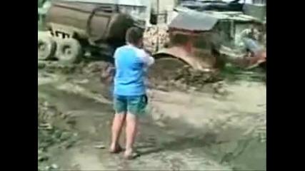 Как се къса трактор на две???