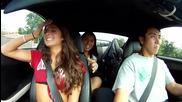 1000whp Supra пробно шофиране с Twin Peaks момичета.