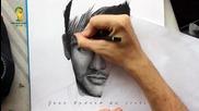 Рисуване на Неймар от Хуан Андрес
