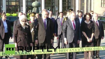 Turkey: Erdogan pays respects to victims of Ankara bomb attacks
