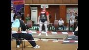 Ивайло Христов поставя рекорд в тягата в кат. до 110 кг.
