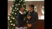 Много смях !! Ronaldo и Kaka поздравяват феновете за Коледа