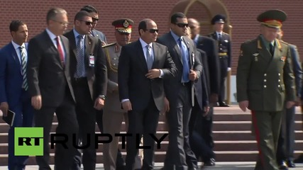 Russia: Egypt's el-Sisi pays respects at Moscow's Tomb of the Unknown Soldier