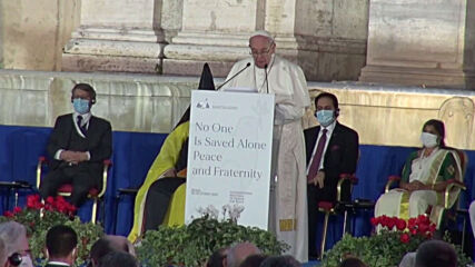 Italy: Pope holds interfaith 'peace and fraternity' prayer in Rome