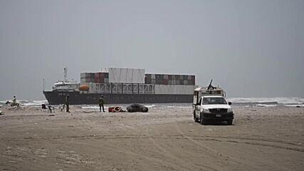 Pakistan: Cargo ship stranded after running aground off coast of Karachi
