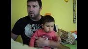 Найден танцува със синa си :)