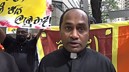 USA: Sri Lankan diaspora protest pres visit, demand justice for 2019 bombing victims