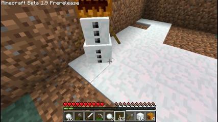 Minecraft-как се прави снежен човек