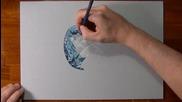Страхотна реалистична рисунка на скъпоценен камък - аквамарин!