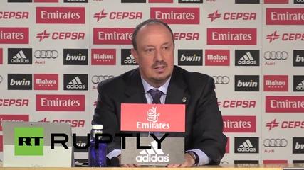 Емоционалният Рафа Бенитес говори пред испанските медии за нoвата му работа в Реал Мадрид