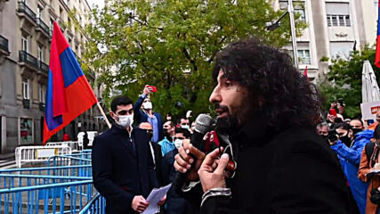 Spain: Pro-Armenian protesters decry Nagorno-Karabakh conflict at Madrid march