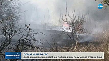 Стотици декари треви и храсти изгоряха край Бургас