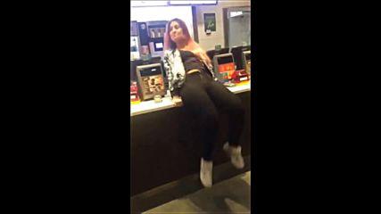 Drunk Girl Attempts Backflip At Mcdonalds
