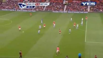 Великолепен гол на Бербатов срещу West Ham!! Manchester United 3 - 0 West Ham 28.08.10