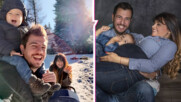 Щастливи новогодишни мигове: Петя, Илиян и децата на разходка в първите часове на 2021