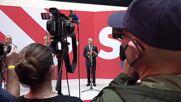Germany: Scholz arrives at SPD HQ for presser day after elex