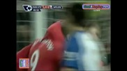 Manchester Utd - Wigan Athletic 4 - 0 Berbatov Gool