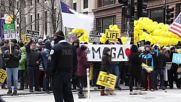 USA: Counter-protesters rally as hundreds attend 'March for Life' in Chicago