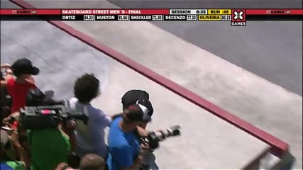 X Games Luan Oliveira takes Silver in Men's Skateboard Street Final [hd]