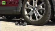 Супер здрав скейтборд може да бъде прегазен с кола!