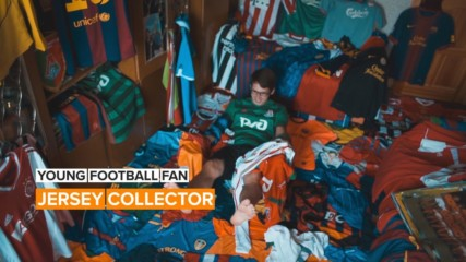 Young Football Fan: 500 Jerseys and Counting