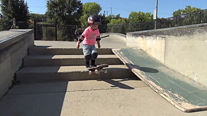 WHOOSH! Two-year-old CA skateboarder 'Tiny Hawk' goes viral with fearless shredding skills