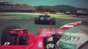 Ф1 - Фетел зрелищно изпреварва Ботас в Испания 2017