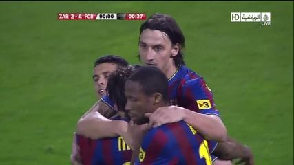 Zaragoza 2 - 4 Fcb (ibrahimovic)