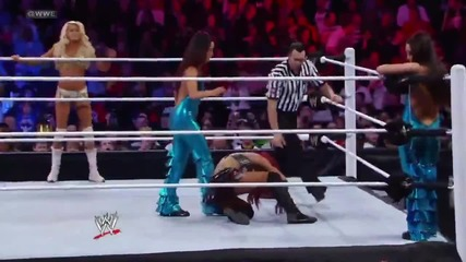 Kelly Kelly & Alicia Fox vs The Bella Twins Wwe Superstars 02/02/12
