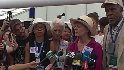 USA: Hollywood stars rally in support of Nina Turner at DNC