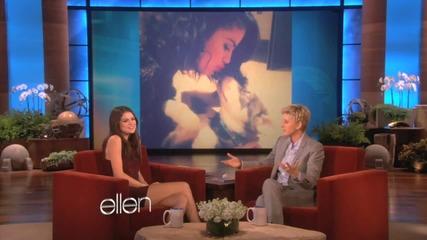 Сел говори за Джъстин и кученцето си Бейлър .. в шоуто на Елън .. !!