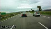 Автоджигити си правят опасна гонка с мръсна газ по немски аутобан !