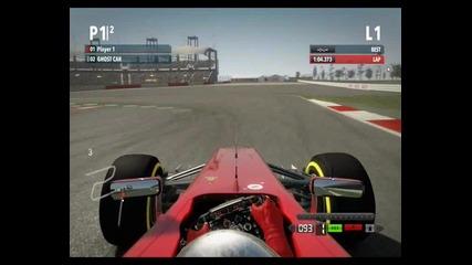 F1 2012 обиколка на Сащ с Ферари