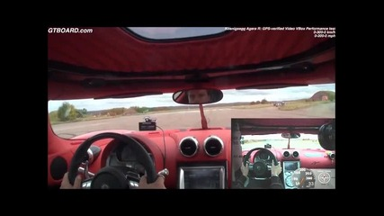 Невероятно! 0-300 kph за 14 секунди ! Koenigsegg Agera R