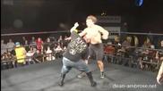 Jon Moxley ( Dean Ambrose ) vs Ego Fan vs Nick Gage
