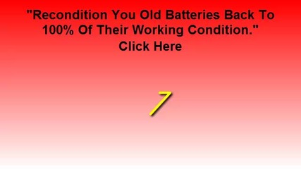 How To Restore Batteries, Recondition Battery, Recondition Laptop, Recondition Car Battery For Sale