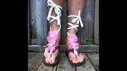 Как да направим от обикновени чехли интересни сандали с цветя