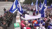 Ukraine: Oleh Lyashko rallies supporters against 'tariff genocide' in Kiev